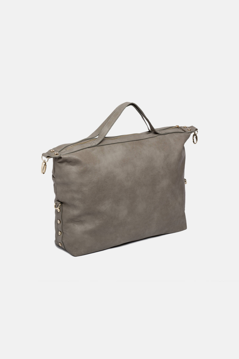 Eco-leather bag with zip image number null