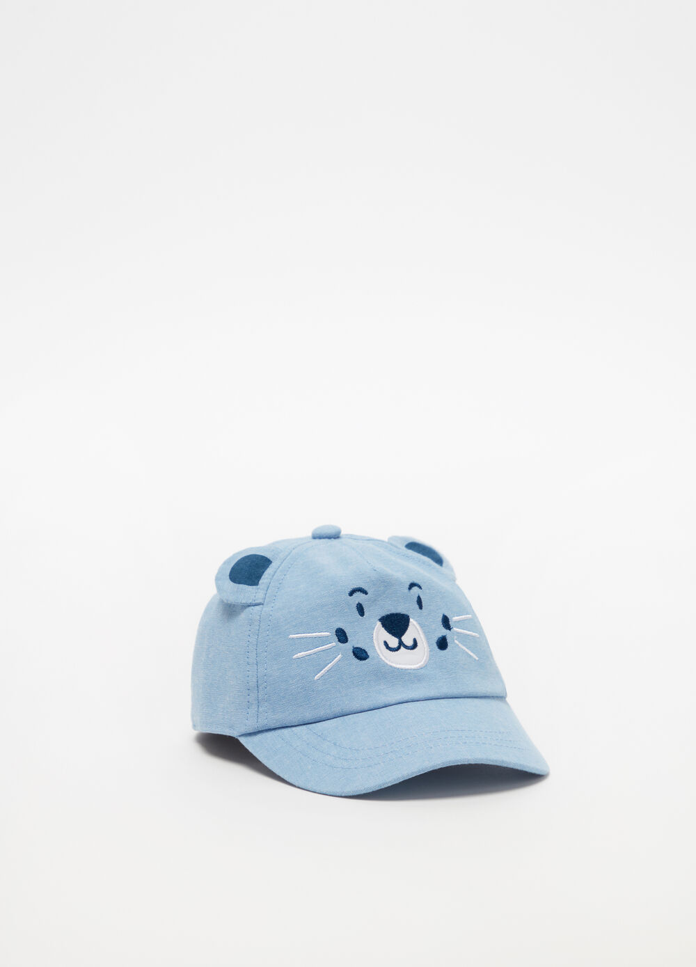 Baseball cap with teddy bear ears