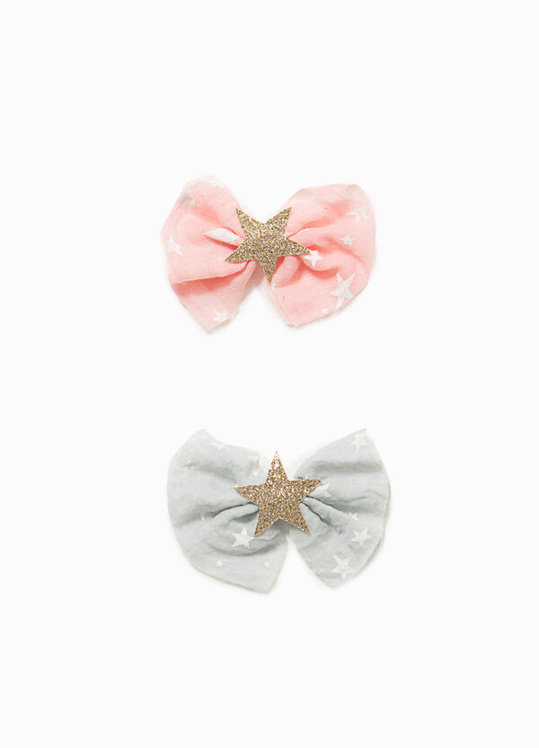 Set of two hair clips with star bow | OVS