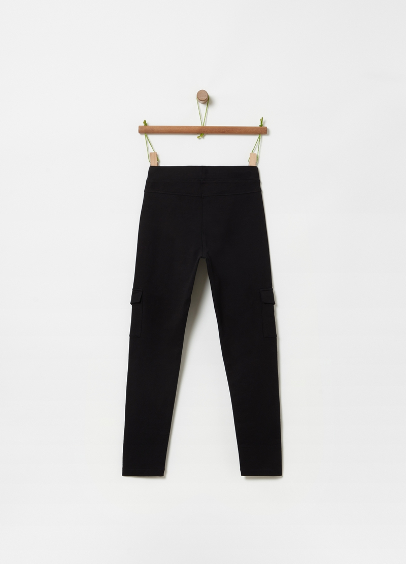 Stretch treggings with pockets image number null