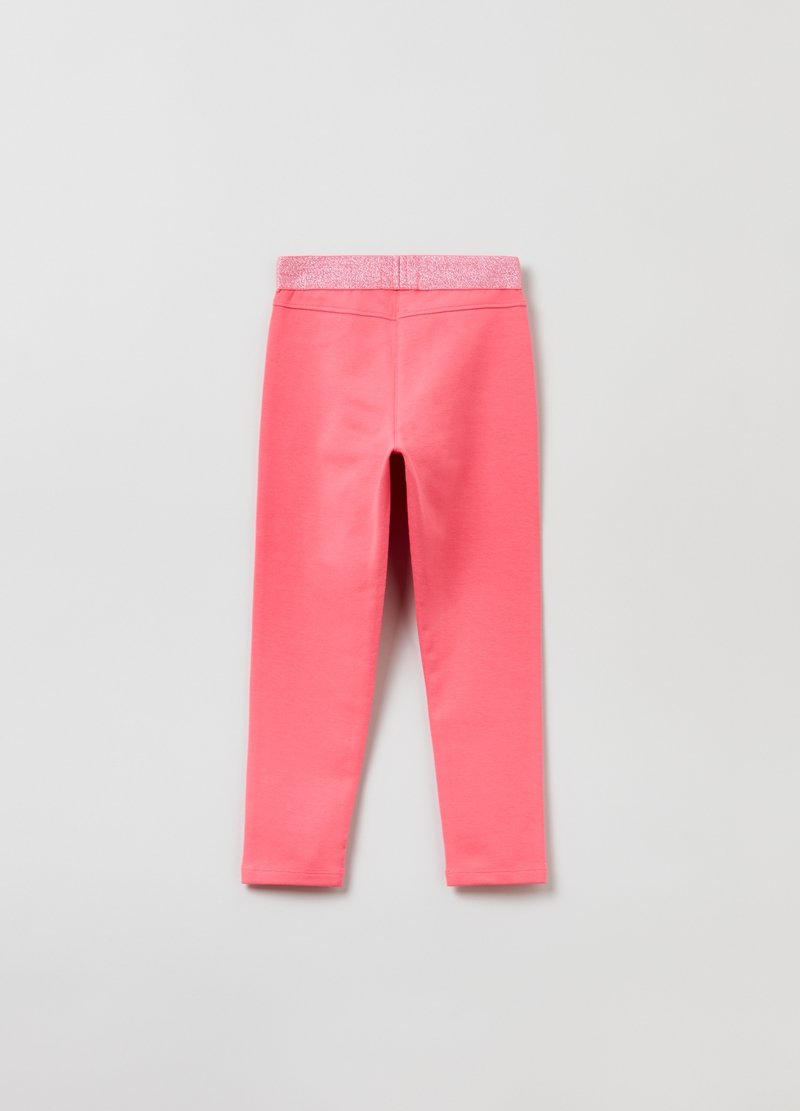 Treggings with lurex image number null