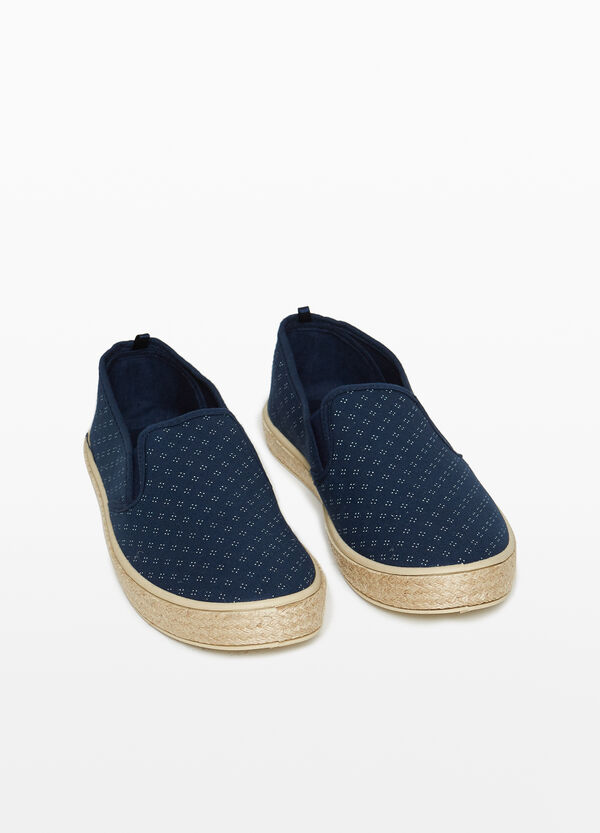 Slip-on con tomaia fantasia