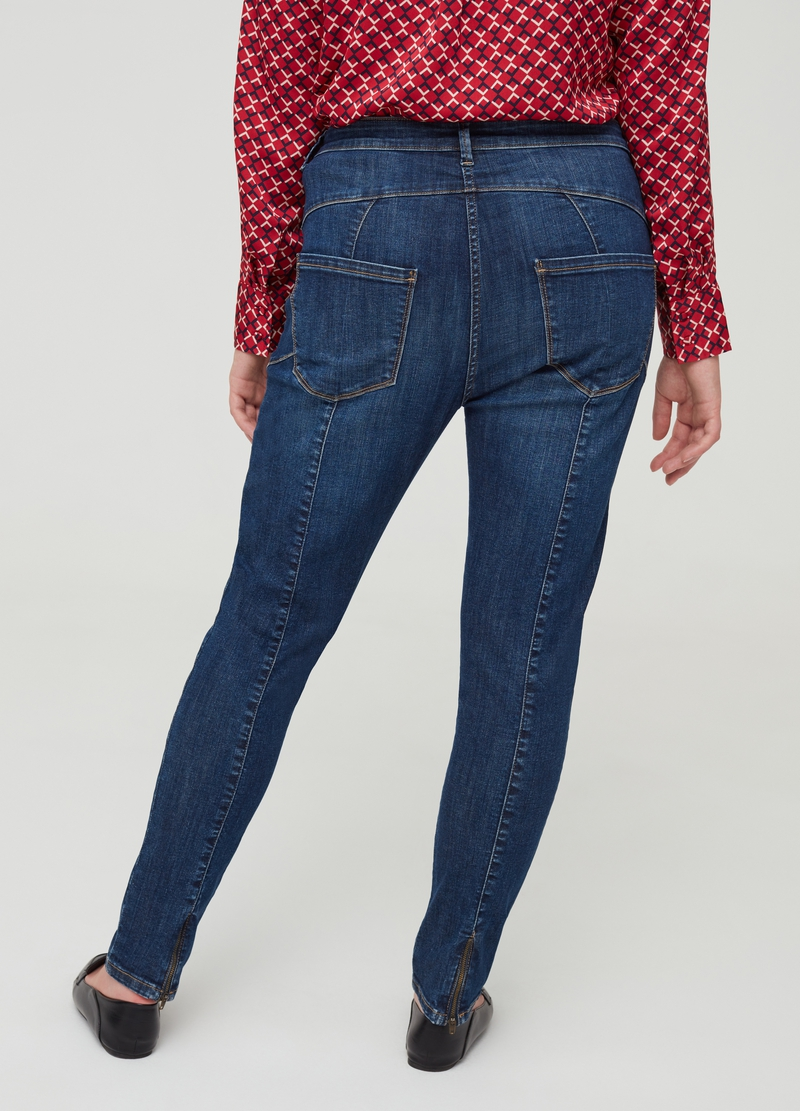 Curvy cotton and viscose blend jeans image number null