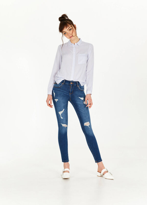 Super skinny-fit jeans with rips