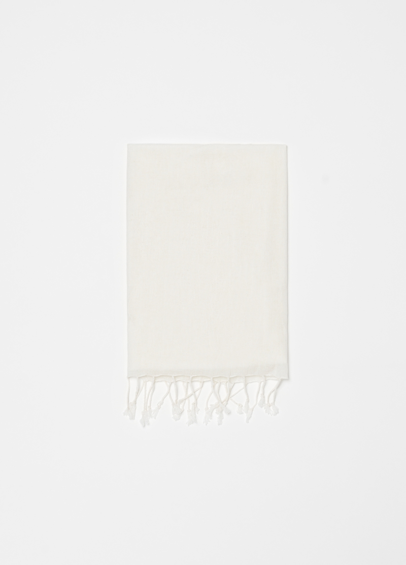 Recycled 100% cotton scarf with fringe image number null