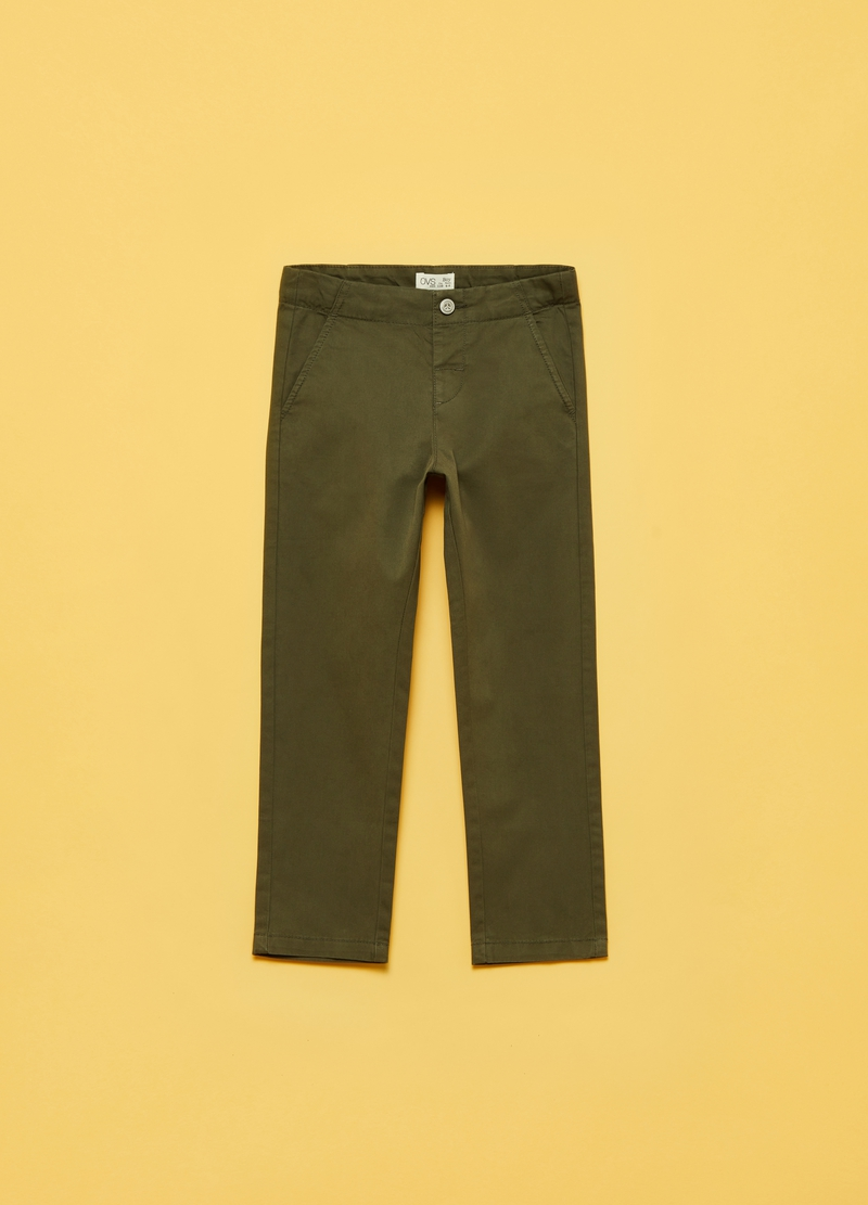 Trousers in cotton twill image number null