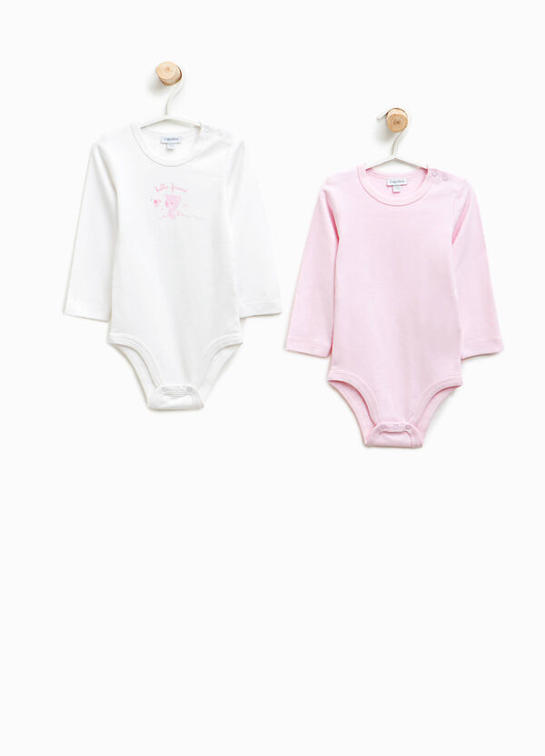 Two-pack organic cotton bodysuits with print | OVS