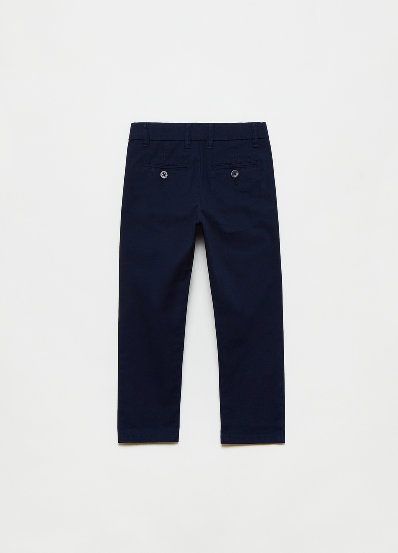 Stretch dobby trousers image number null