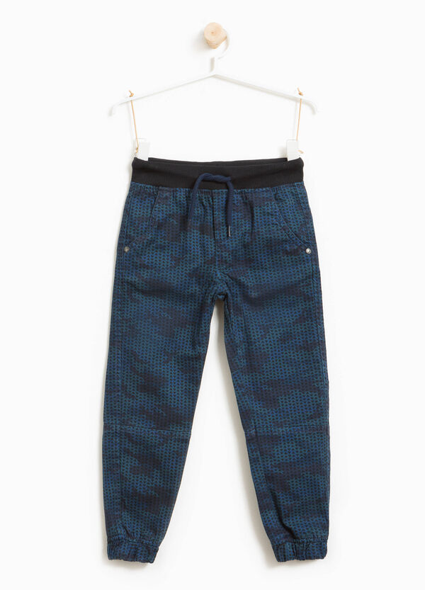 100% cotton trousers with all-over print   OVS