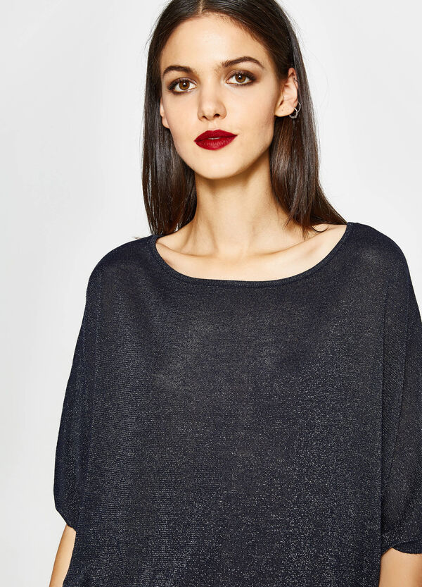 Viscose pullover with lurex