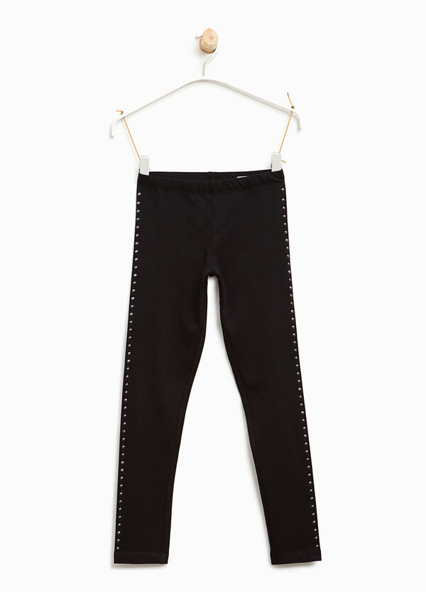 Cotton leggings with studs | OVS