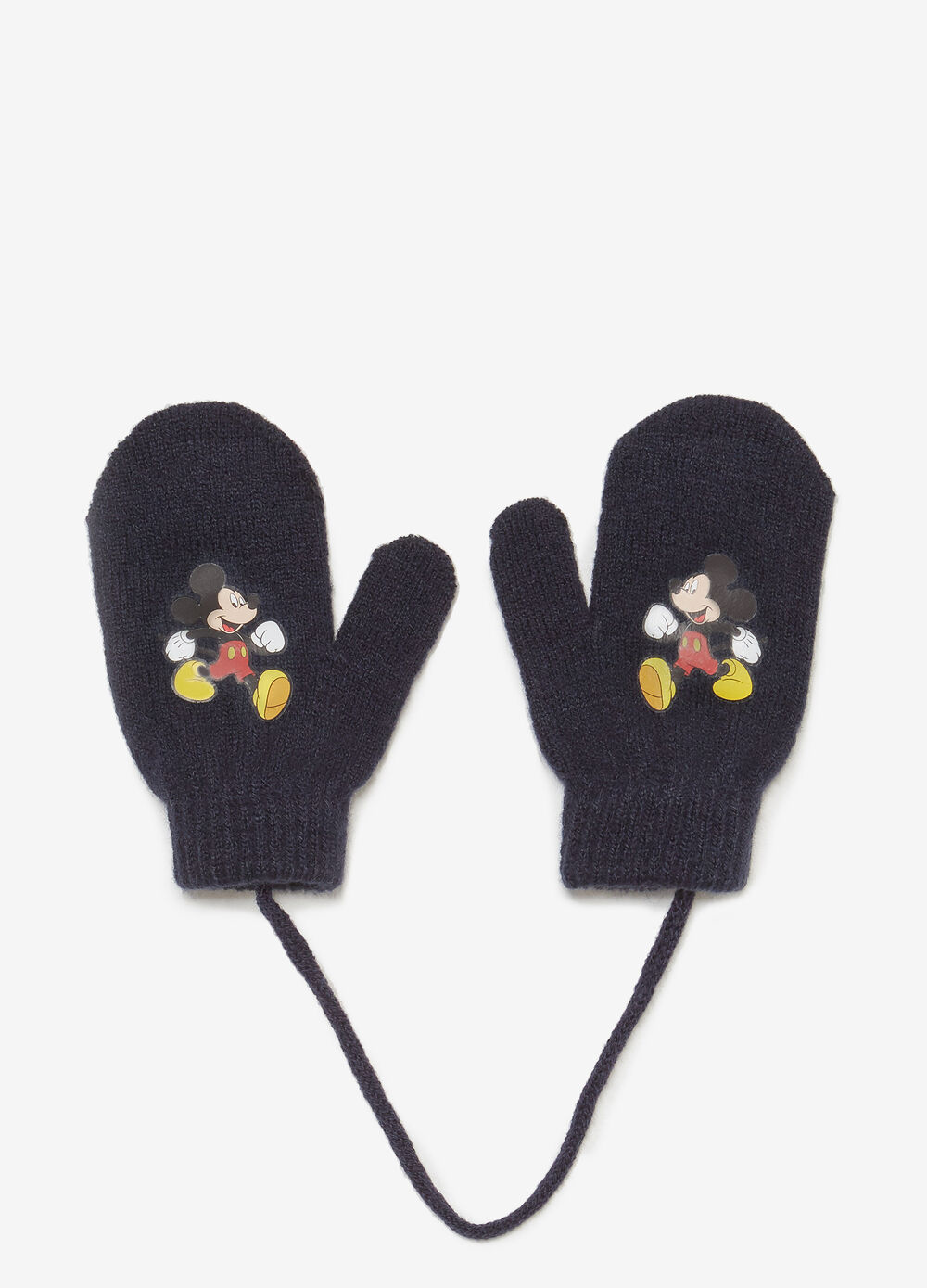 Solid colour Mickey Mouse mittens