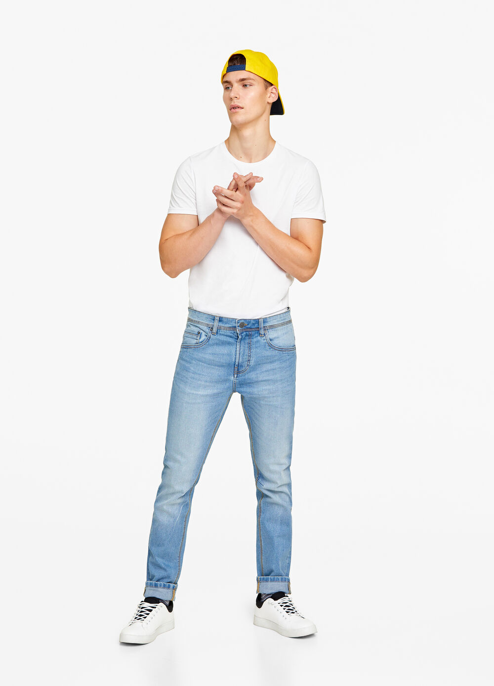 Jeans tapered loose fit stretch