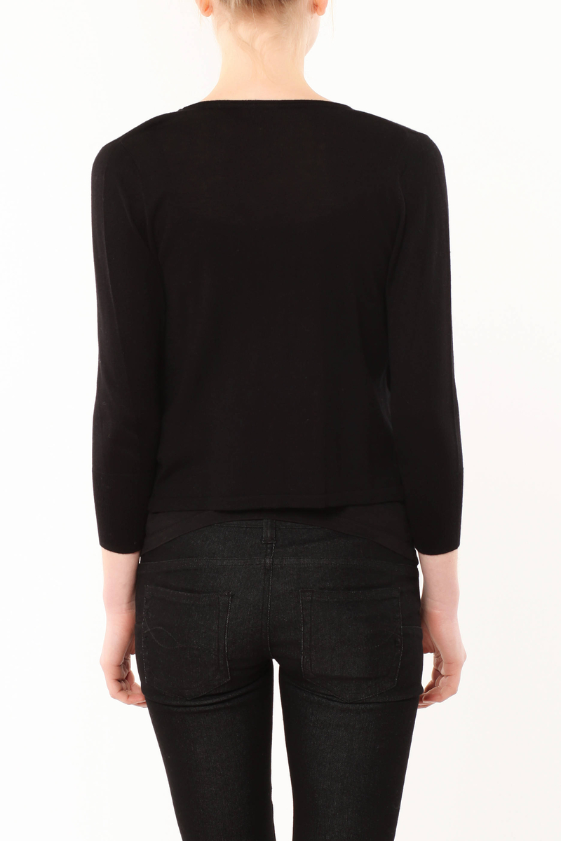 Tricot knit cardigan image number null