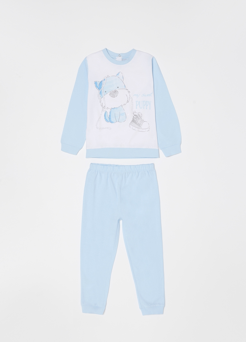 Long pyjamas with puppy print image number null