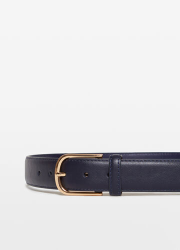 Solid colour textured-effect belt with single loop