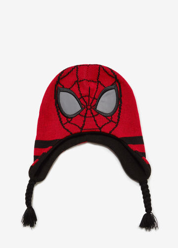 Cappello a cuffia patch e ricami Spiderman