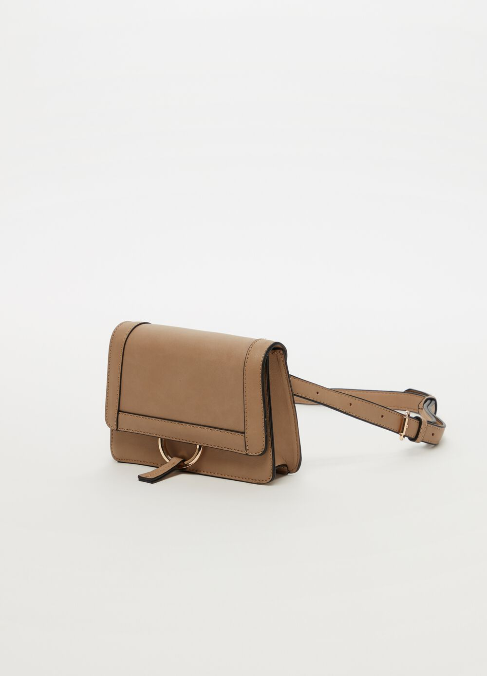 Structured bum bag with belt