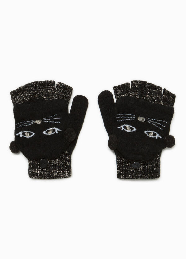 Fingerless gloves with kitten mittens | OVS