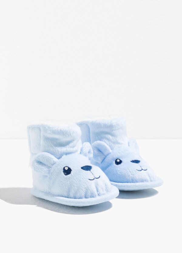 Faux fur shoes with ears
