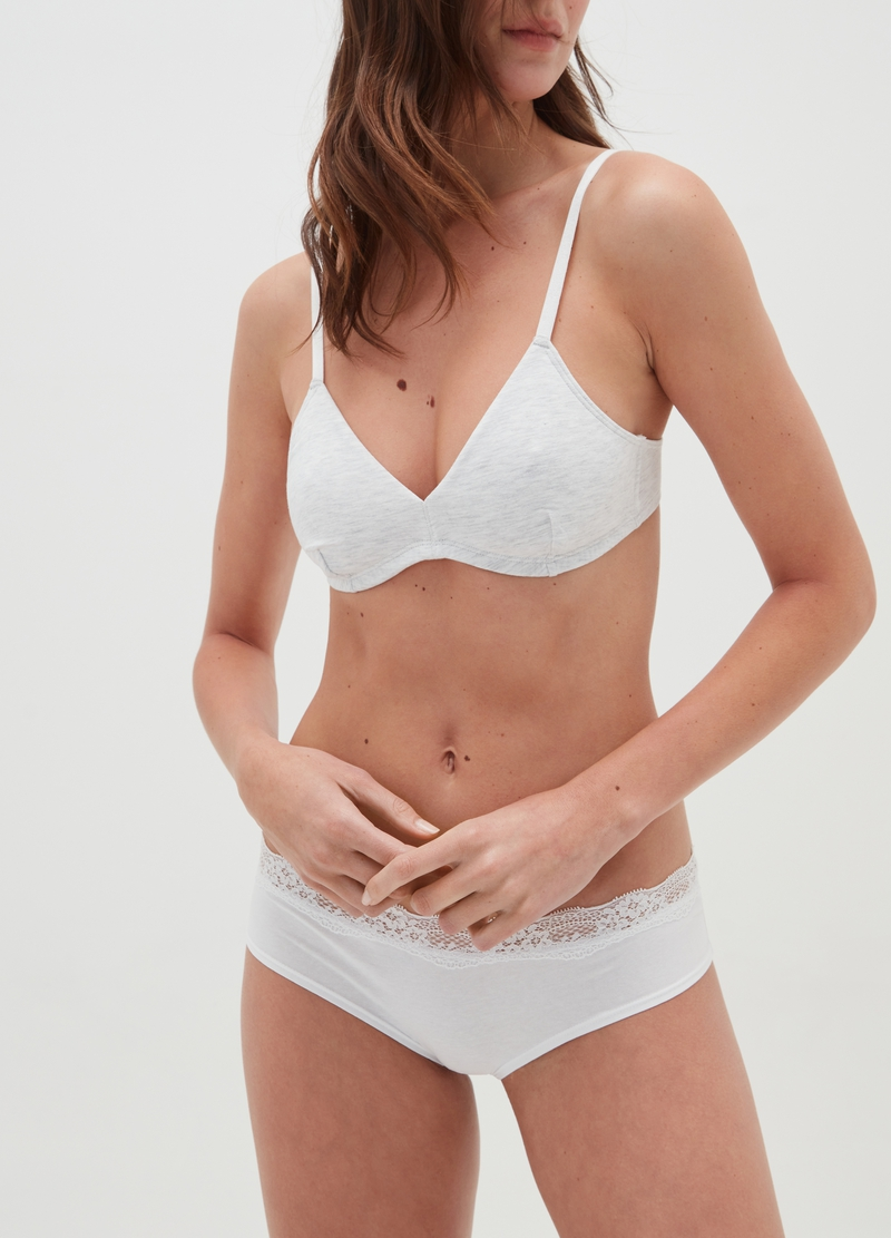 Two-pack triangle bras in stretch cotton image number null