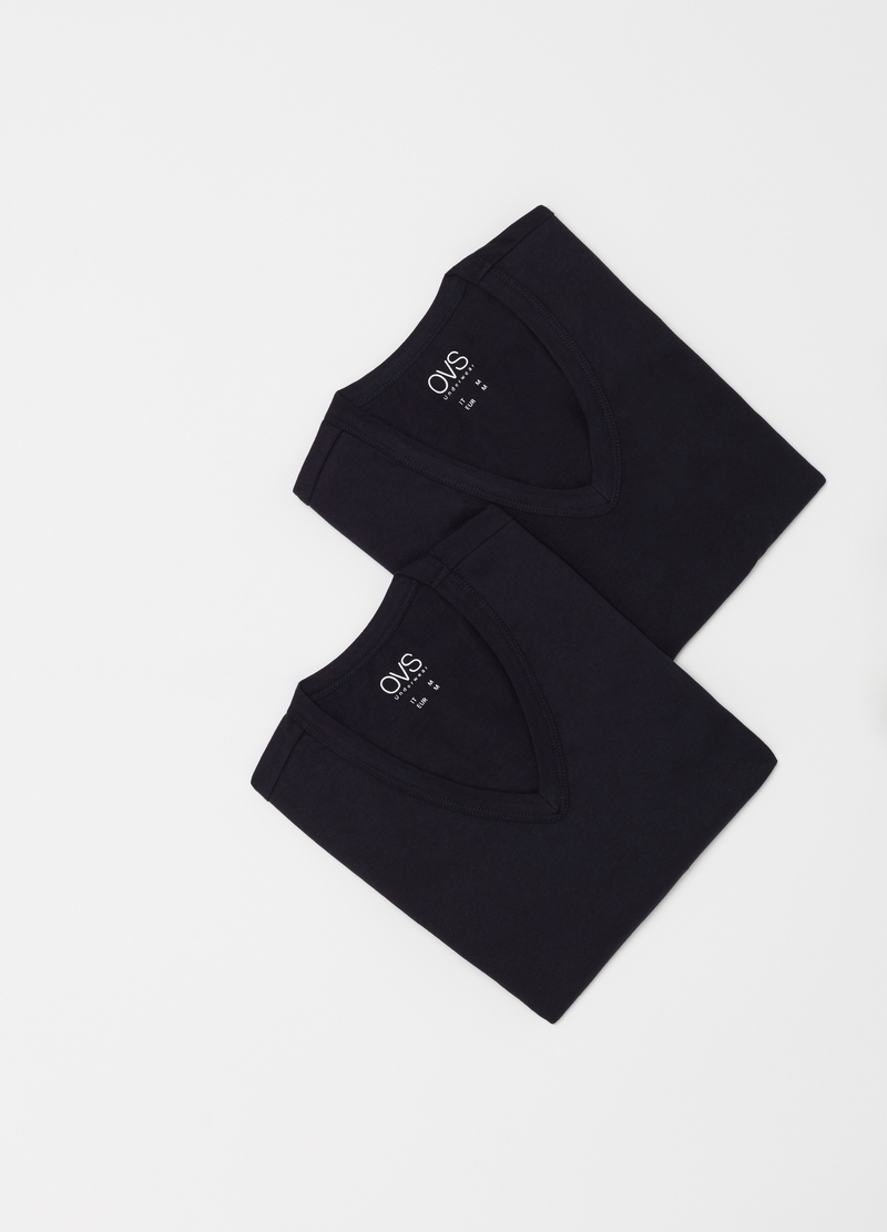 Two-pack undershirts with V neck image number null