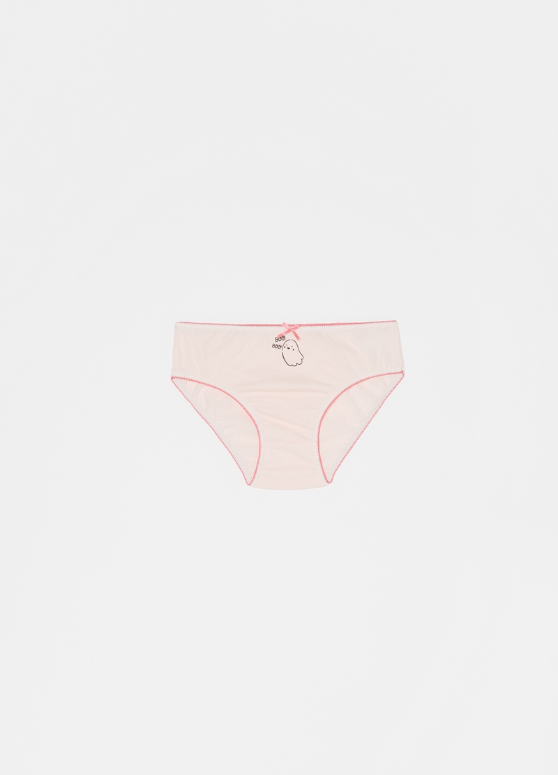 Seven-pack briefs with bow and ghosts image number null