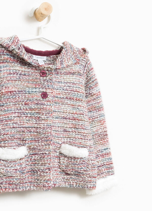 Striped cotton and mohair cardigan