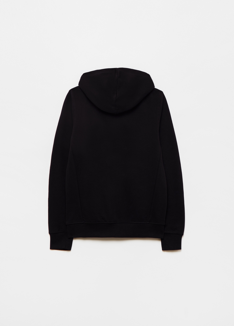 100% cotton full-zip sweatshirt with hood image number null
