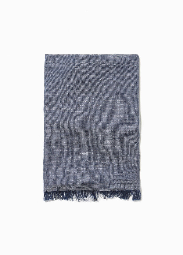 Striped scarf in 100% cotton