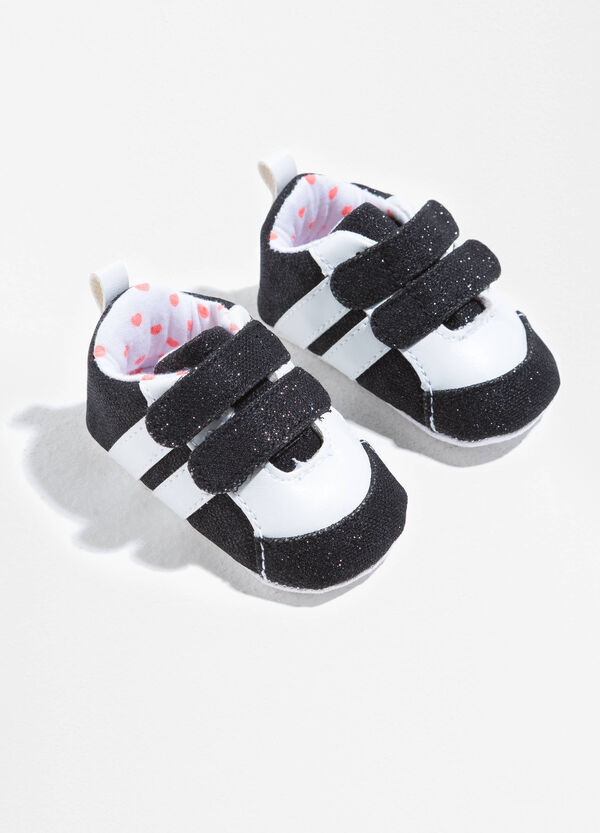 Sneakers in glitter canvas with rips | OVS