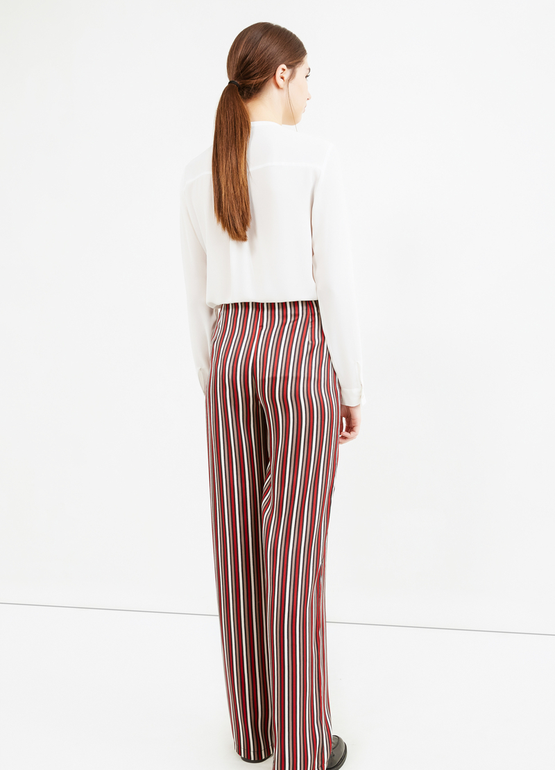 Palazzo trousers with stripes image number null
