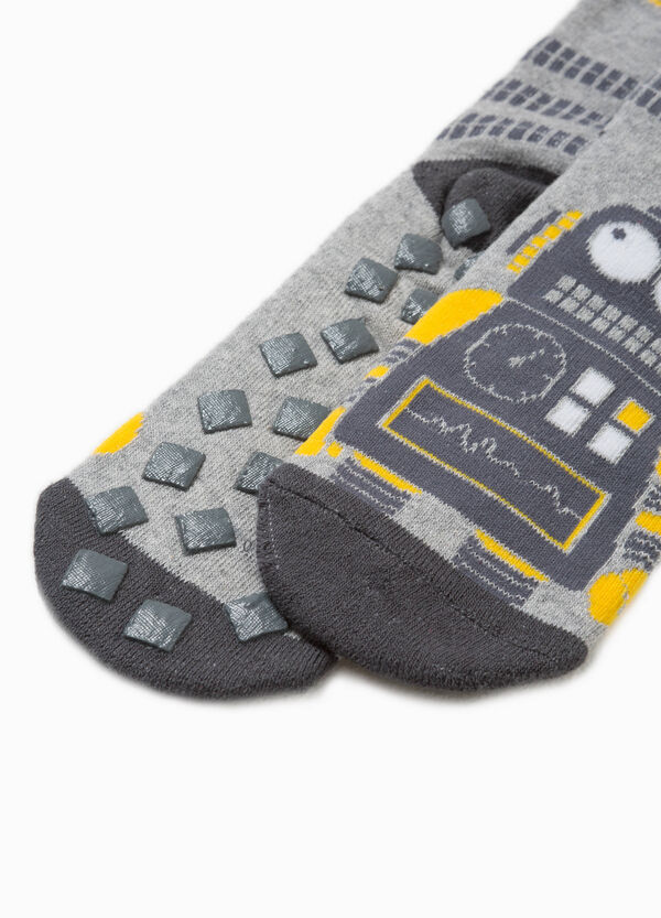 Robot embroidered slipper socks | OVS