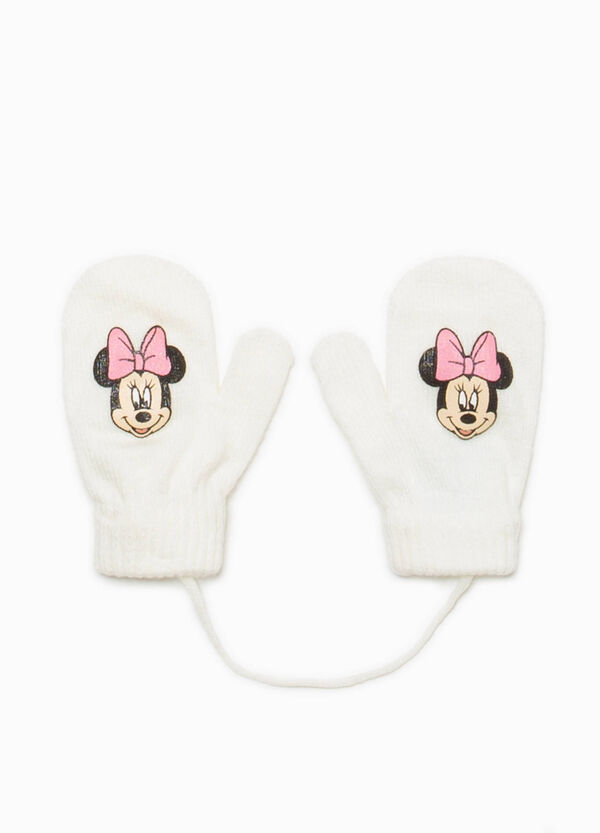 Knitted mittens with Minnie Mouse print | OVS