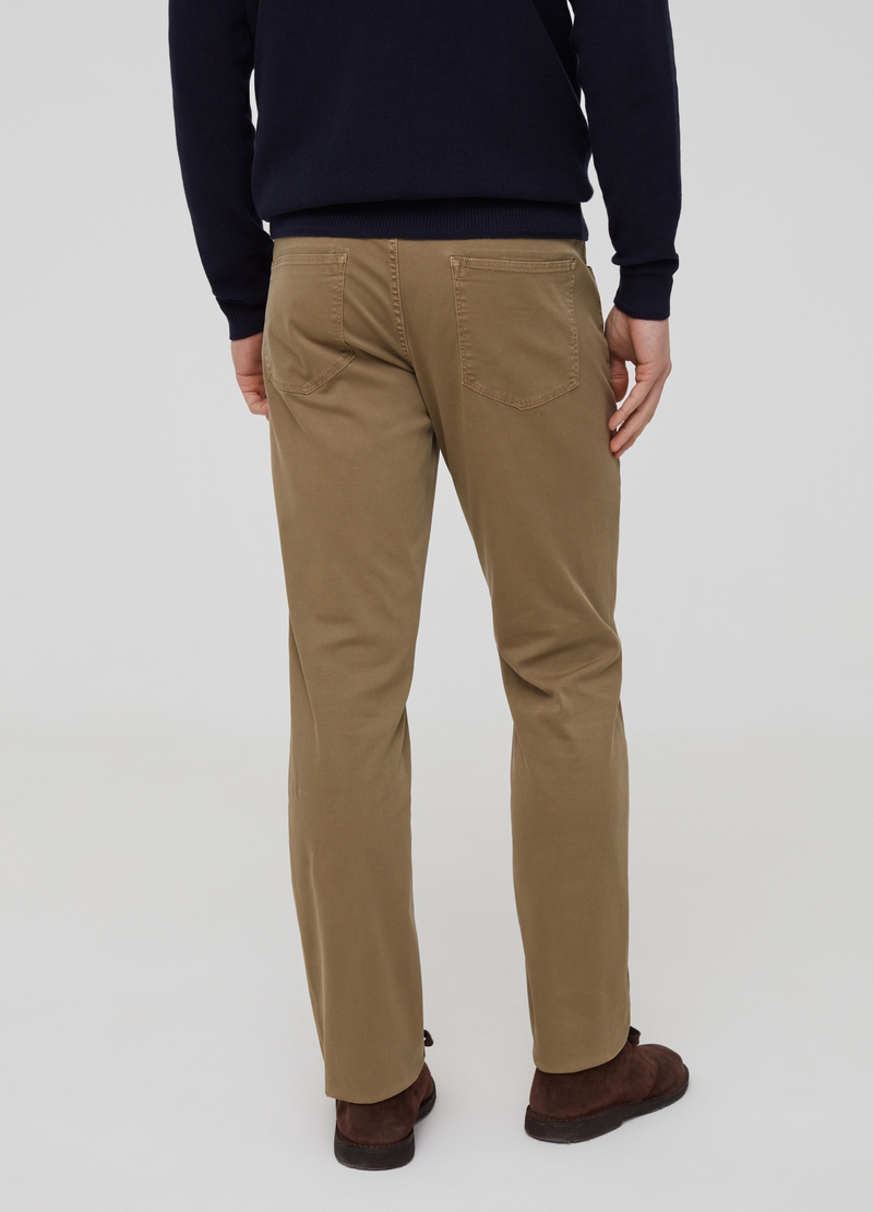 Five-pocket solid colour trousers image number null
