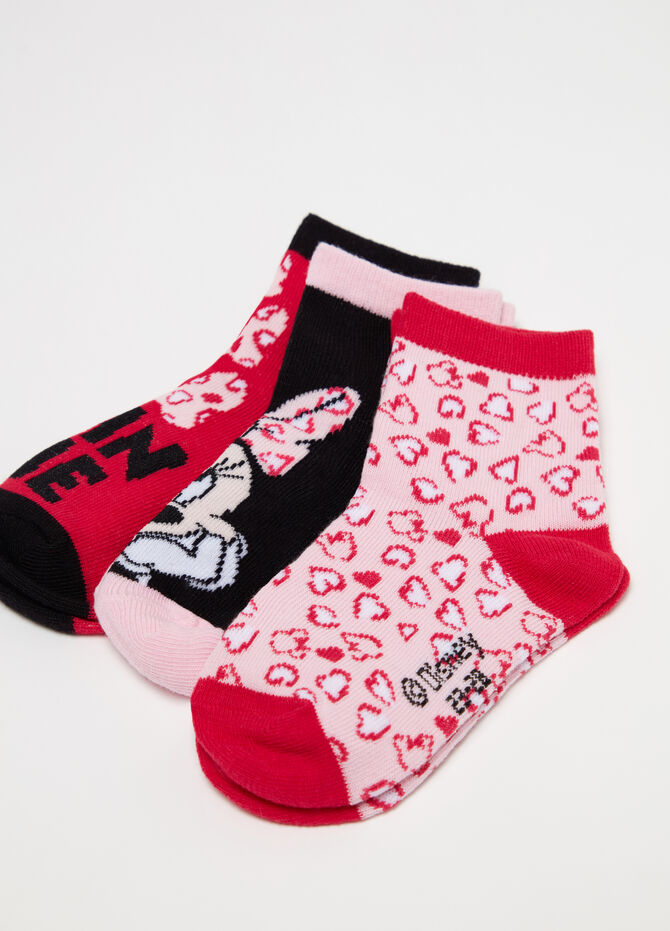 Set tre paia di calze corte Disney Minnie