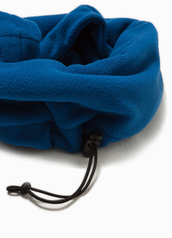 Fleece neck warmer with drawstring | OVS