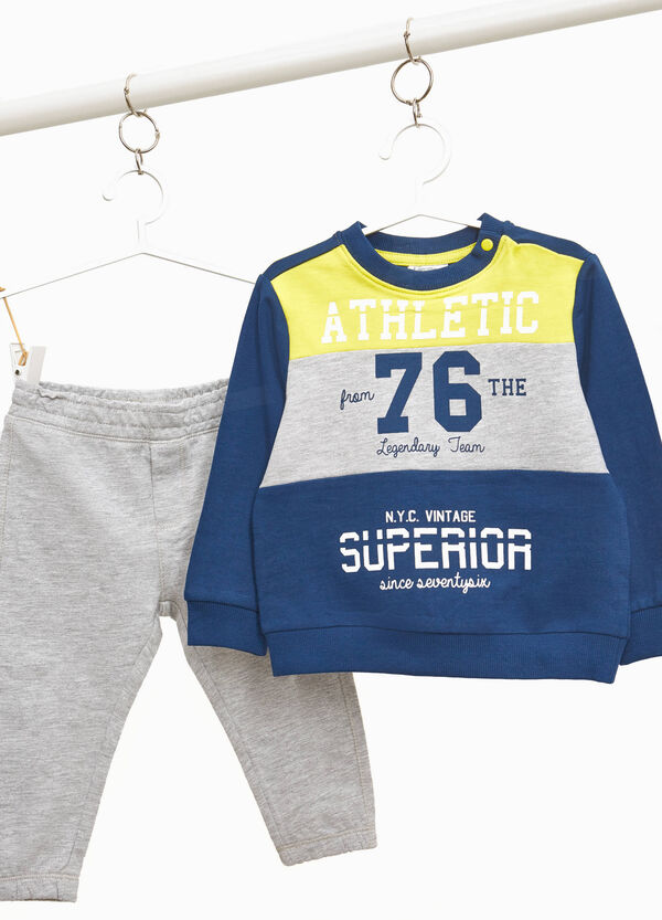Tracksuit with maxi striped lettering print