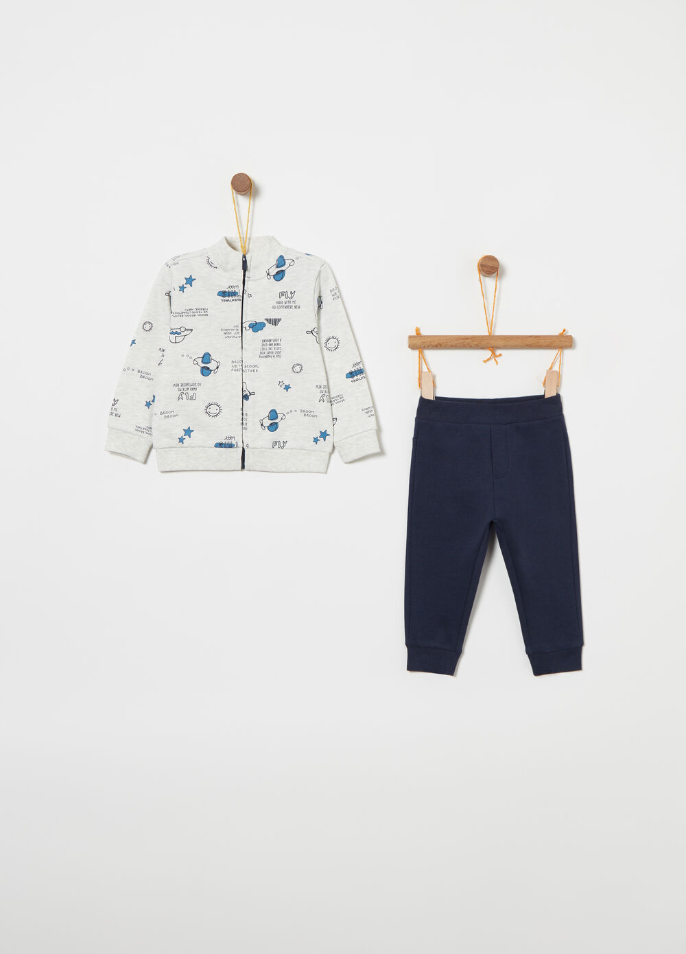 Jogging set in puro cotone fantasia
