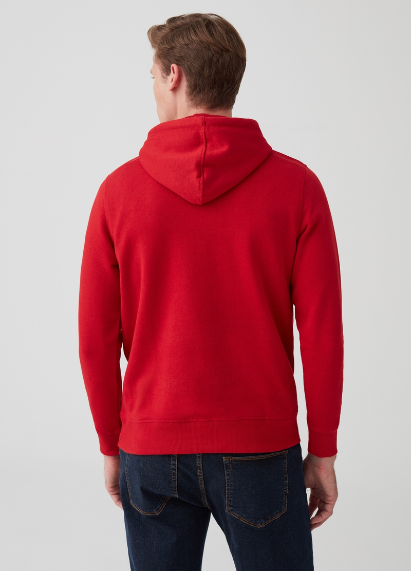 Sweatshirt with hood and pouch pocket image number null