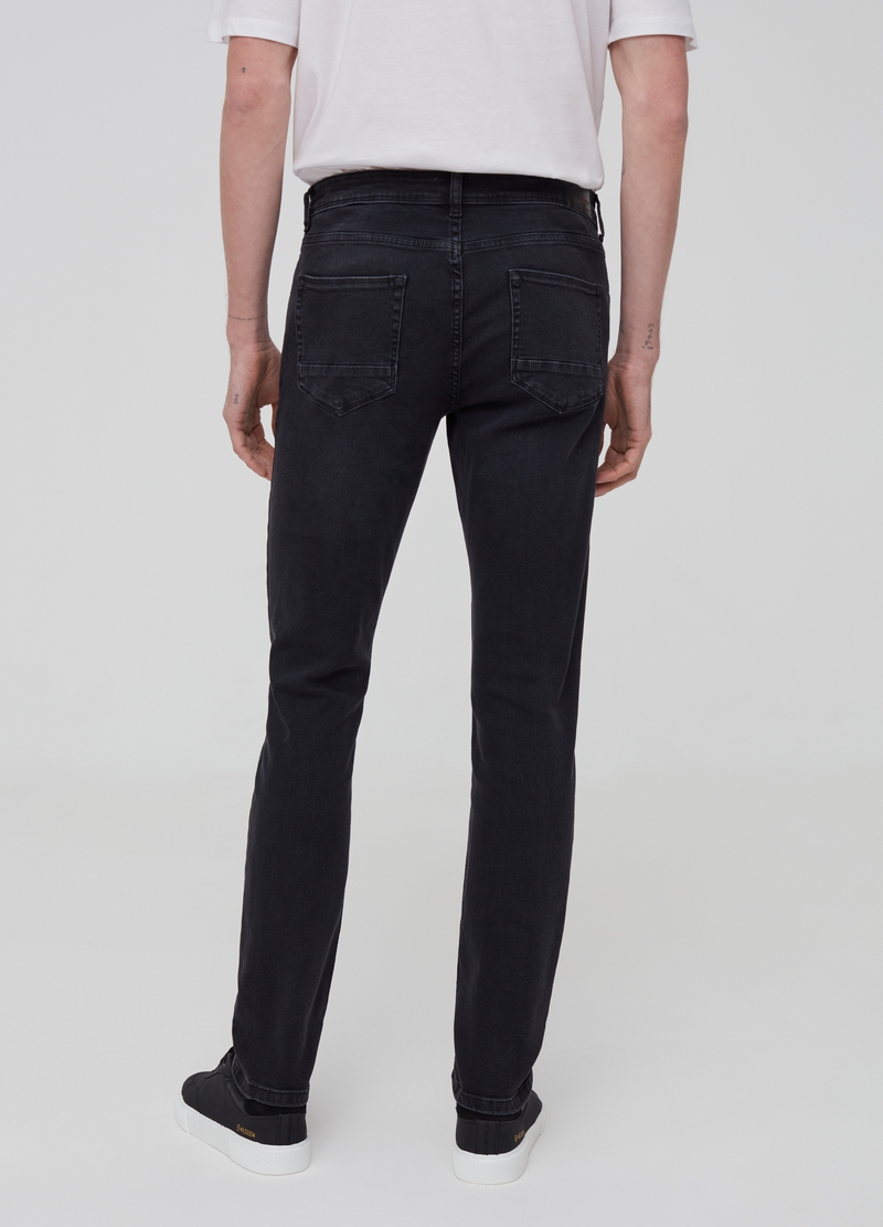 Jeans skinny fit stretch effetto maltinto image number null