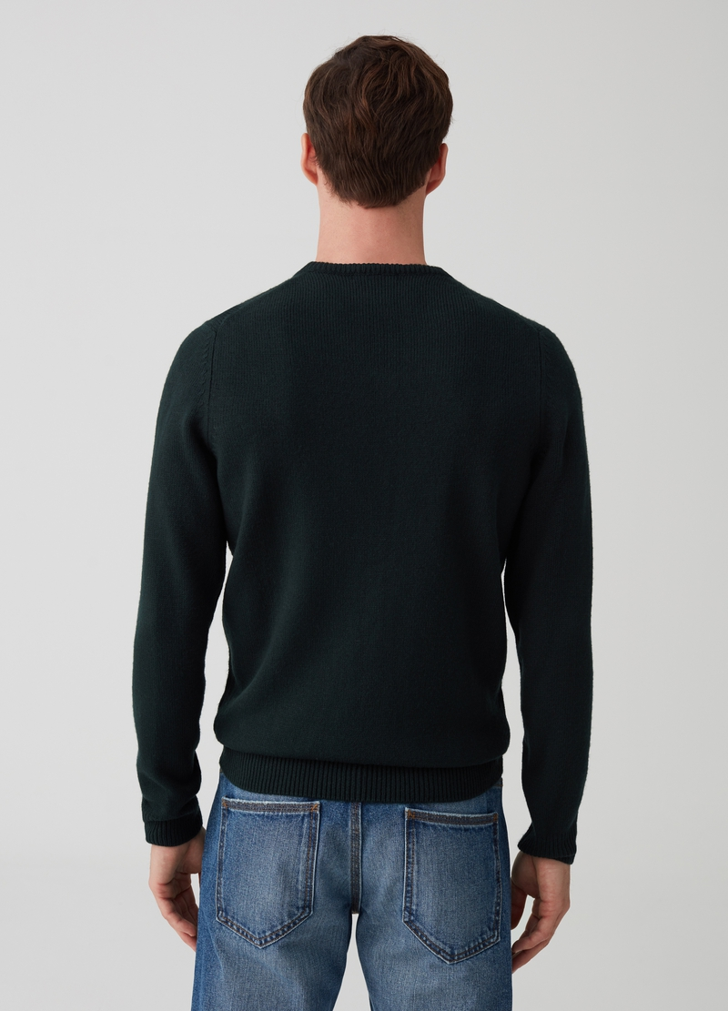 Pullover with V-neck and ribbing image number null