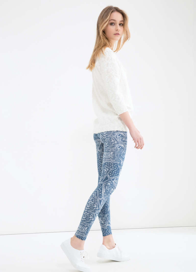 Leggings stretch stampati image number null