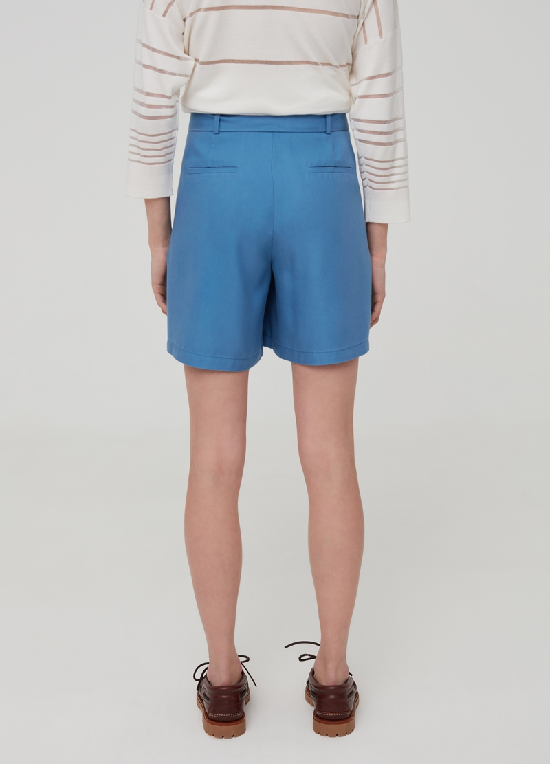 Shorts in Lyocell with pockets image number null