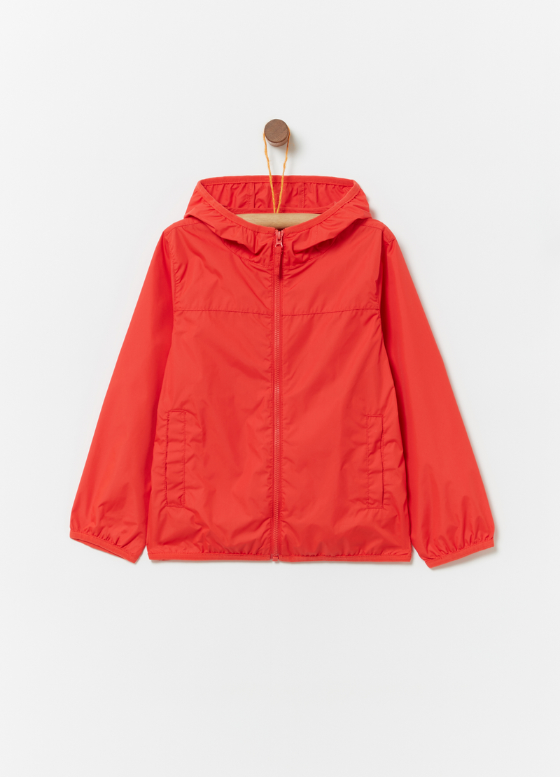 Unlined nylon rain jacket image number null