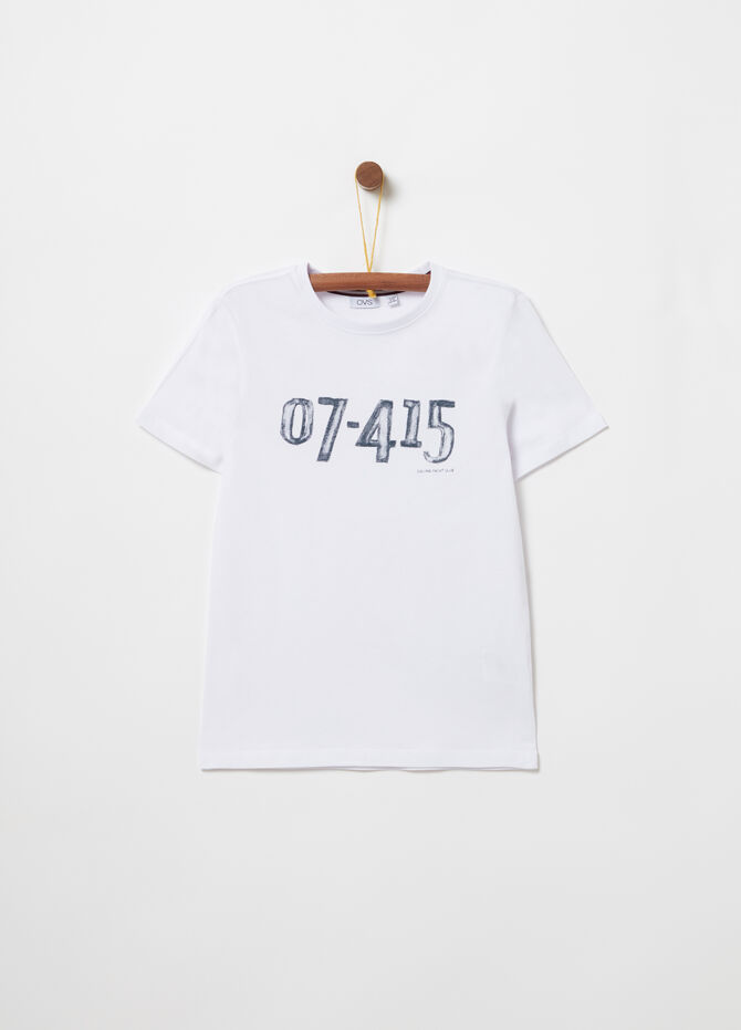 Jersey t-shirt with lettering print