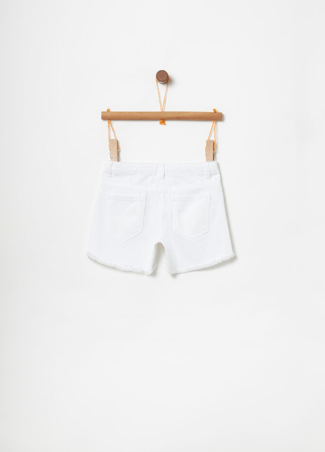 Cotton drill shorts with five pockets
