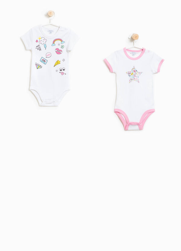 Two-pack bodysuits in cotton with print | OVS