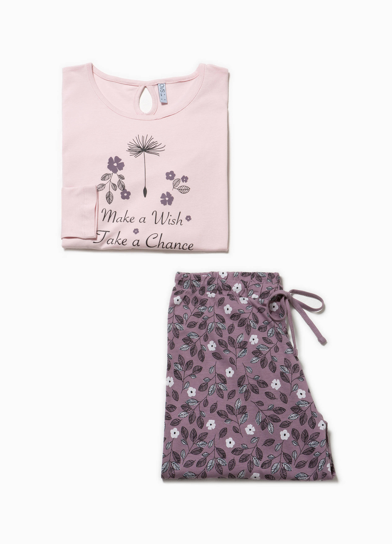 Floral cotton pyjamas image number null