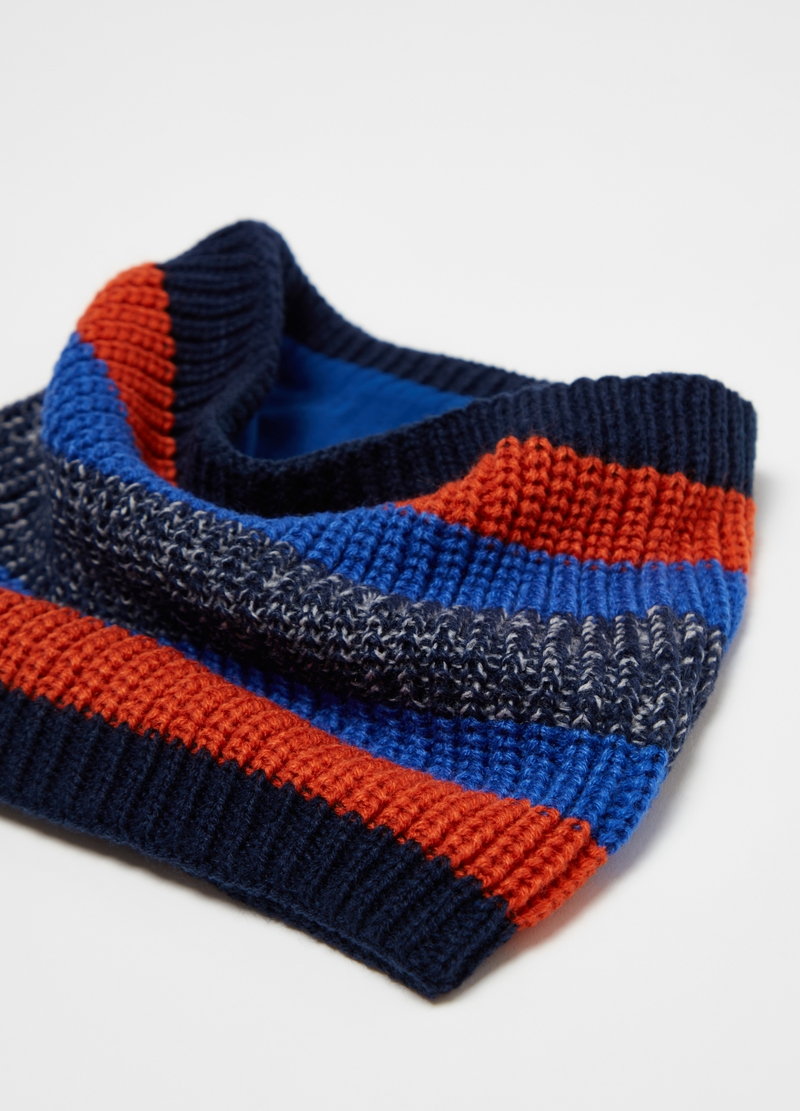 Striped knitted neck warmer image number null